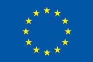 Europa-Flagge: ein Kreis aus 12 gelben Sternen auf blauem Grund.